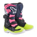 Alpinestars Kids Crosslaarzen Tech 3S - Zwart / Donker Blauw / Fluo Roze