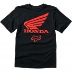Fox Kinder T-Shirt Honda - Zwart