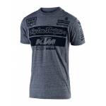 Troy Lee Designs 2019 Team KTM T-shirt - Vintage Grey Snow