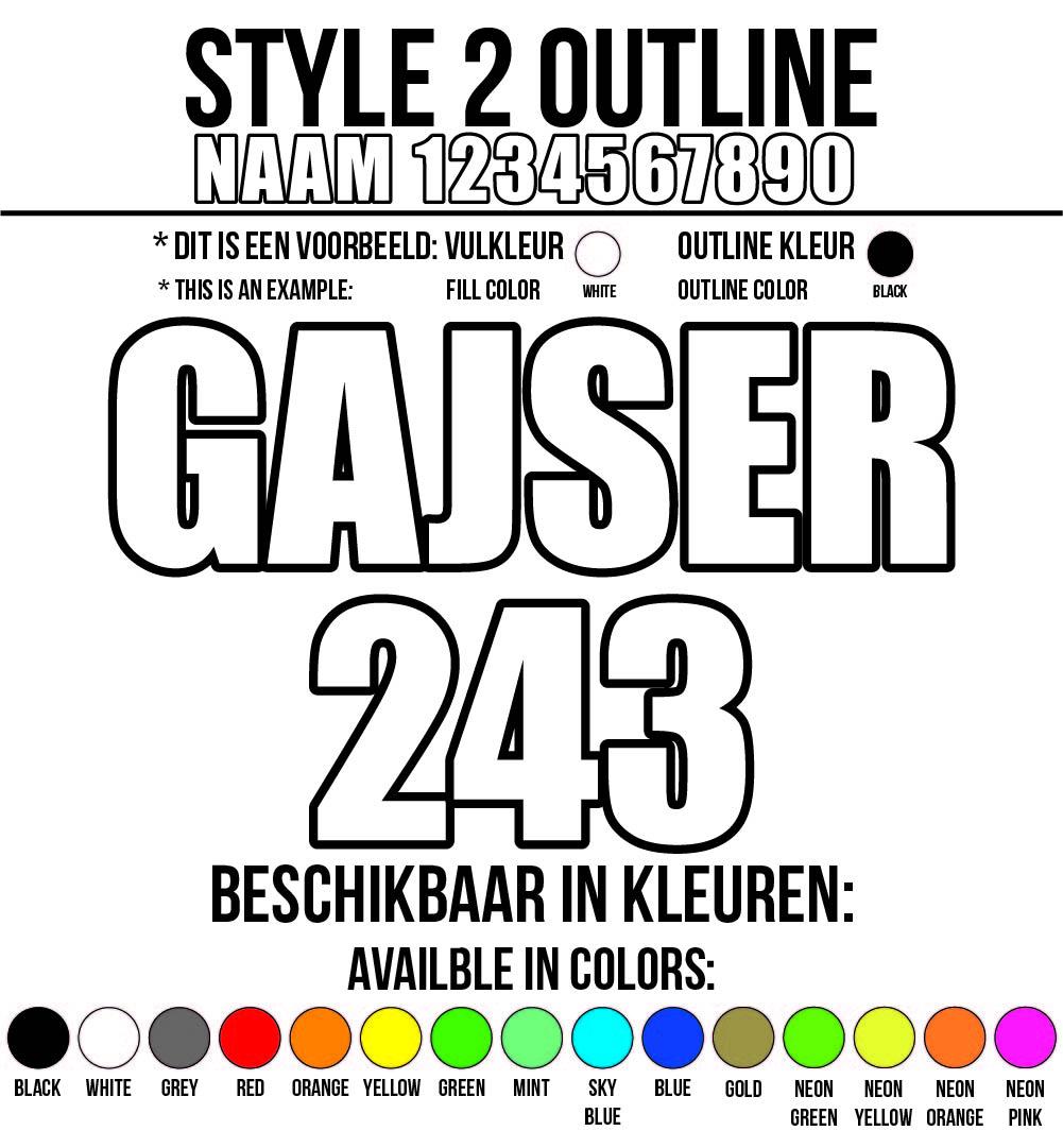 Cross Shirt Bedrukken Style 2 - Outline
