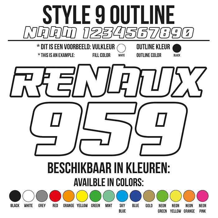 Cross Shirt Bedrukken Style 9 - Outline