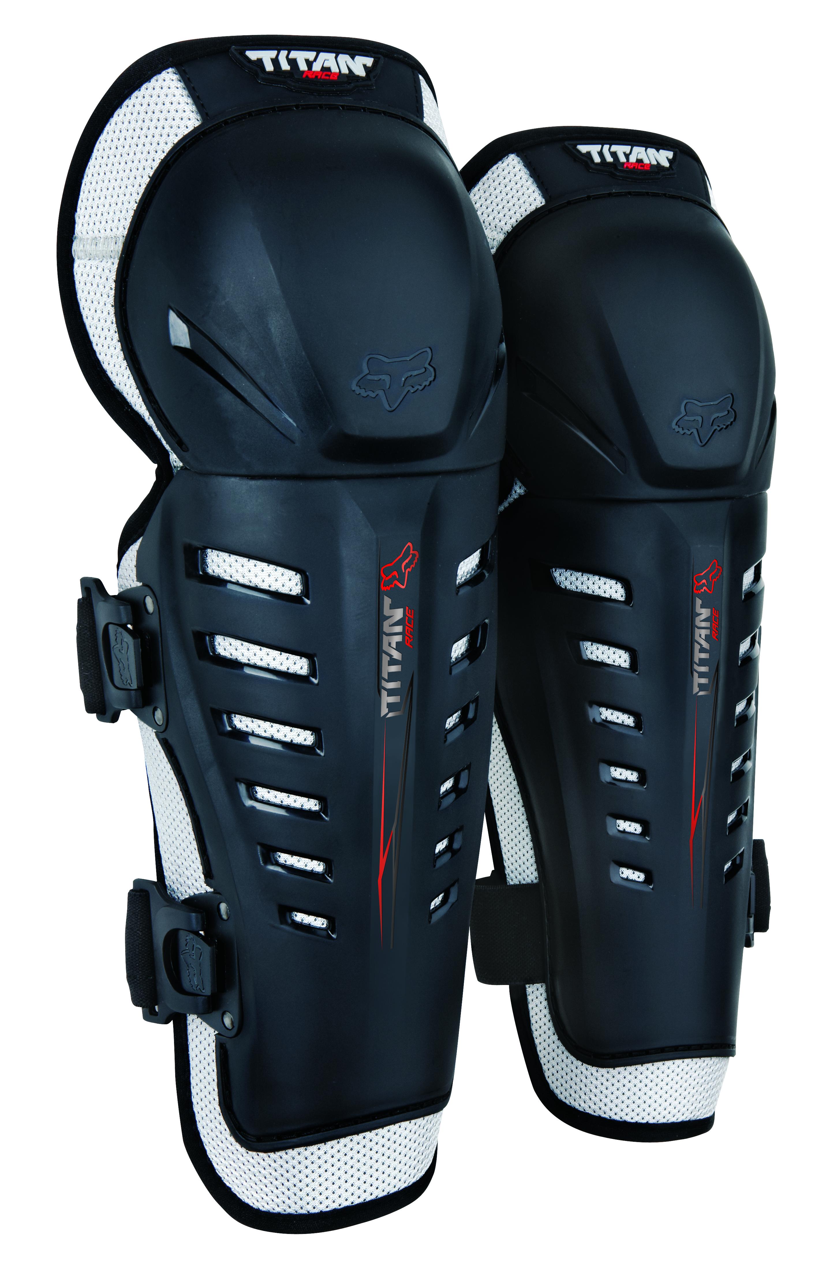 Fox Kniebeschermer Titan Race - Zwart