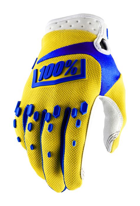 100% Crosshandschoenen Airmatic - Geel