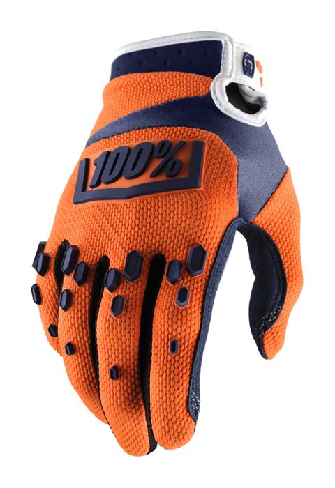 100% Crosshandschoenen Airmatic - Oranje / Navy