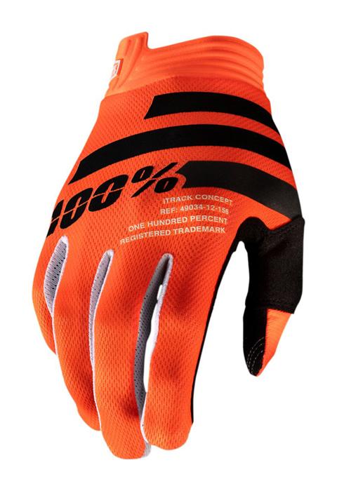 100% Crosshandschoenen iTrack - Oranje / Zwart
