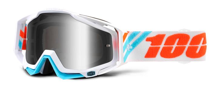 100% Crossbril Racecraft Calculus Ice - Mirror Lens