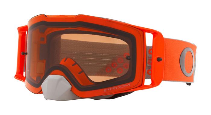 Oakley Crossbril Front Line MX Heritage B1B Orange Gunmetal - Prizm Bronze Lens
