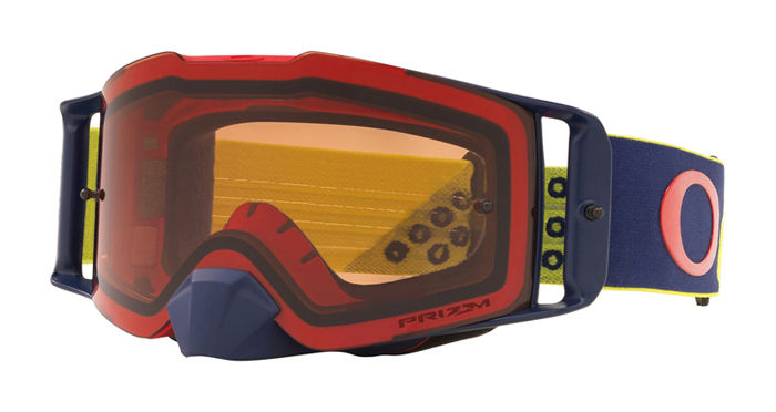 Oakley Crossbril Front Line MX Heritage B1B Yellow Navy - Prizm Bronze Lens