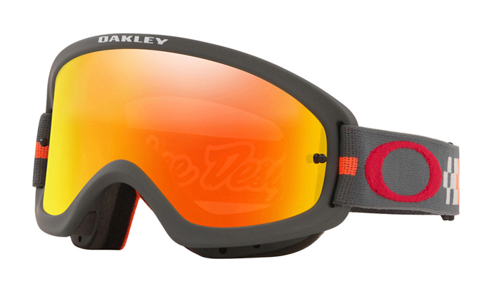 Oakley Crossbril XS O-frame 2.0 TLD Checkerboard Red - Fire Iridium Lens
