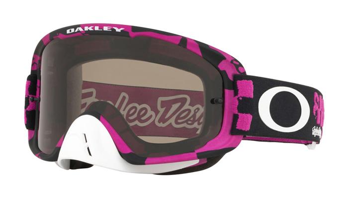 Oakley Crossbril O-frame 2.0 TLD Race Shop Pink - Dark Grey Lens