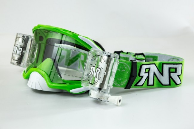 RNR Crossbril Racerpack Platinum - Groen