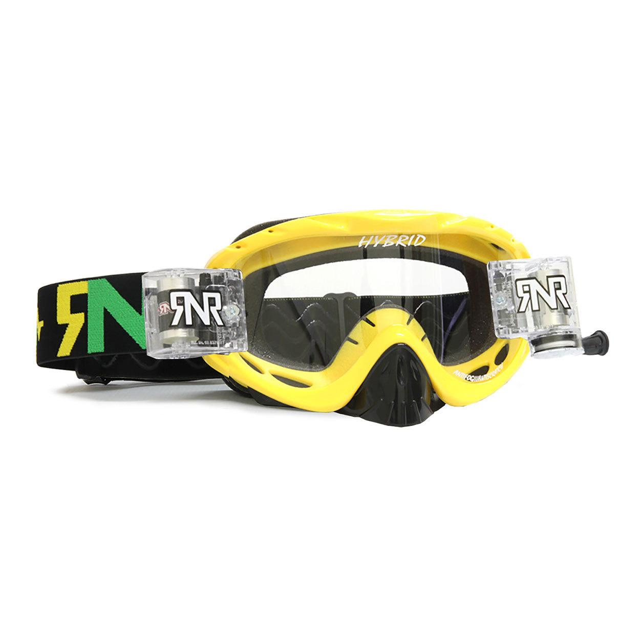 RNR Crossbril Racerpack Hybrid - Geel