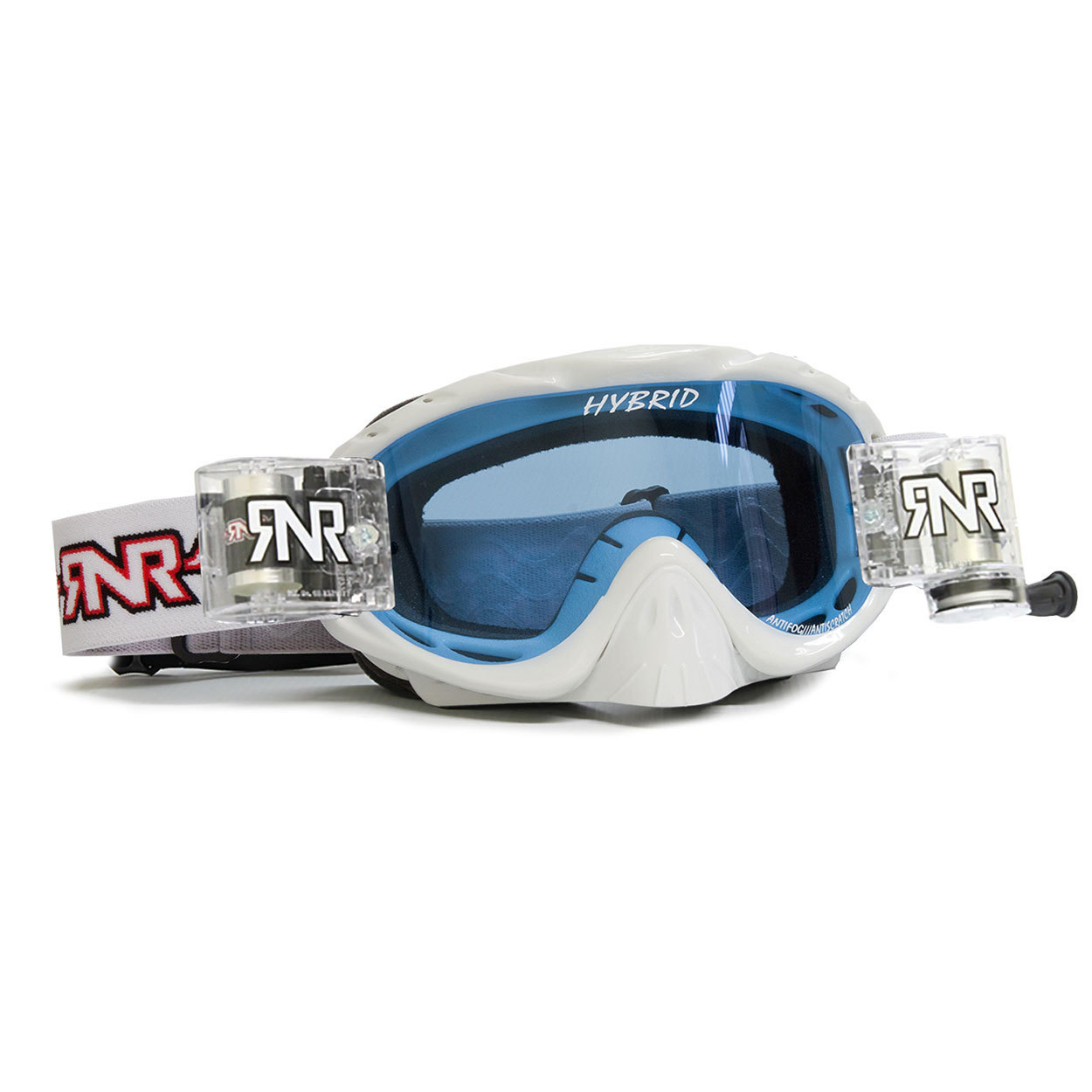 RNR Crossbril Racerpack Hybrid - Wit