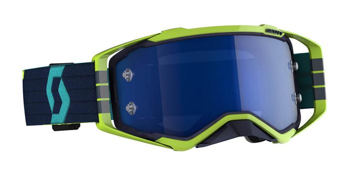Scott Crossbril Prospect - Blauw / Geel - Spiegel Lens