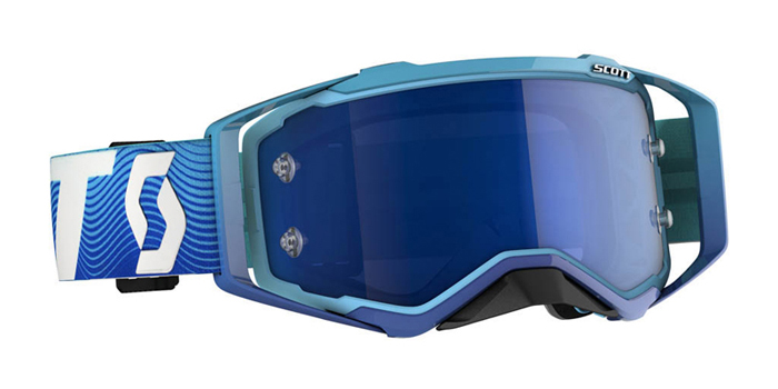 Scott Crossbril Prospect - Blauw / Wit - Spiegel Lens