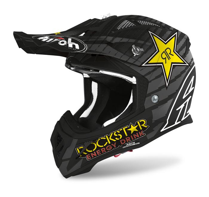 Airoh Crosshelm Aviator Ace Rockstar - Mat Wit / Zwart