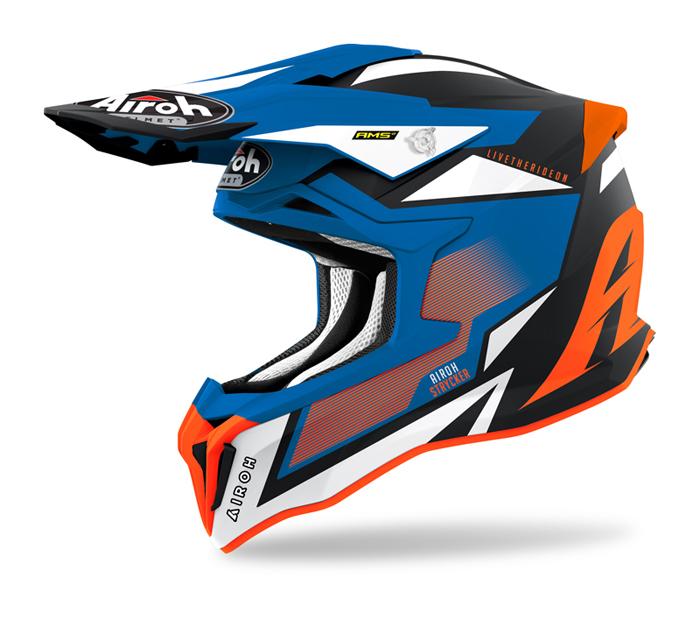 Airoh Crosshelm Strycker Axe - Maat Fluo Oranje / Blauw