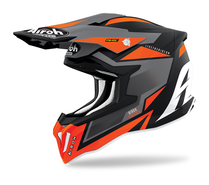 Airoh Crosshelm Strycker Axe - Mat Fluo Oranje