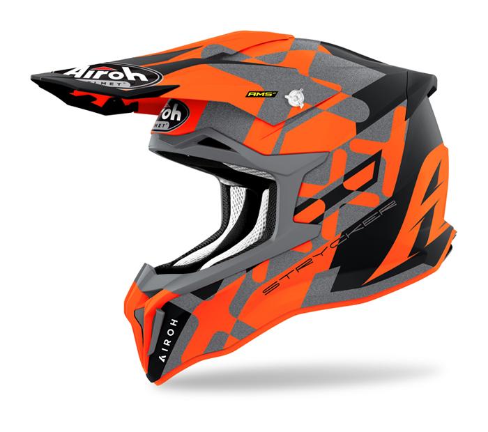 Airoh Crosshelm Strycker XXX - Mat Fluo Oranje / Grijs
