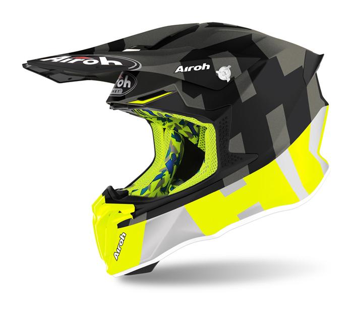 Airoh Crosshelm Twist 2.0 Frame - Mat Fluo Geel / Antraciet