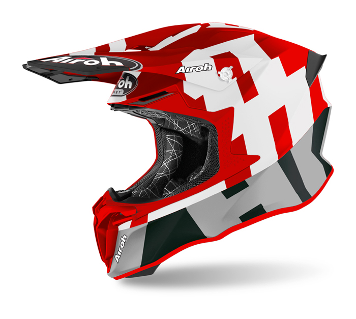 Airoh Crosshelm Twist 2.0 Frame - Mat Rood / Wit
