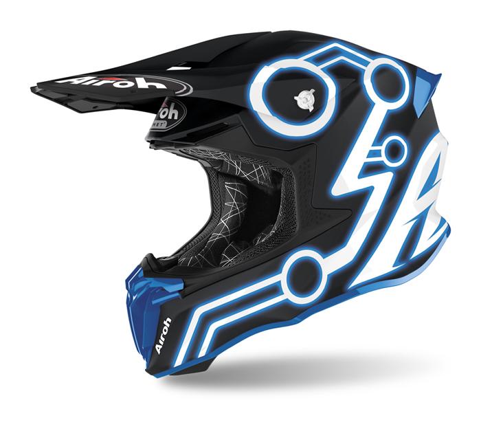 Airoh Crosshelm Twist 2.0 Neon - Mat Blauw / Zwart