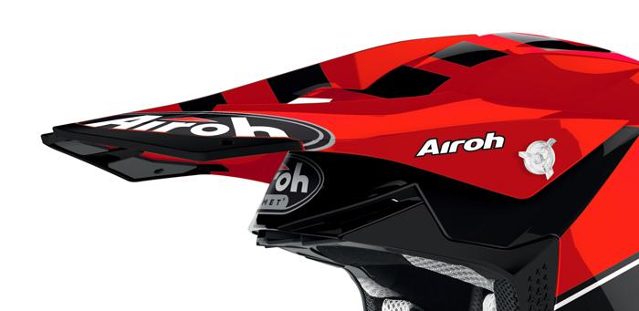 Airoh Helmklep Twist 2.0 Tech - Glans Rood / Zwart