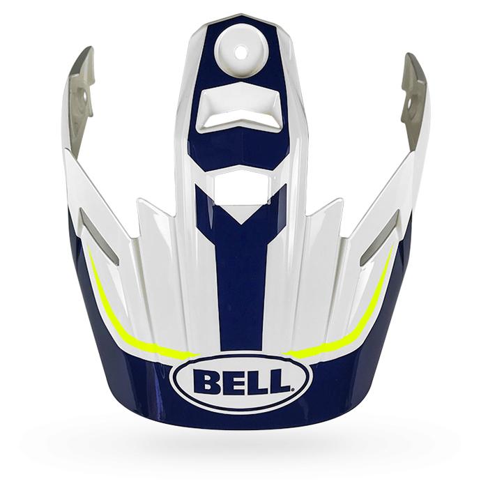 Bell Helmklep MX-9 Adventure Torch - Wit / Blauw / Geel