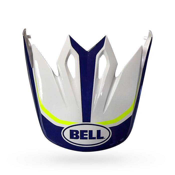 Bell Helmklep MX-9 Mips Marauder Gloss - Wit / Blauw / Geel