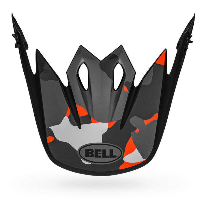 Bell Helmklep MX-9 Mips Presence - Zwart / Flo Oranje / Camo
