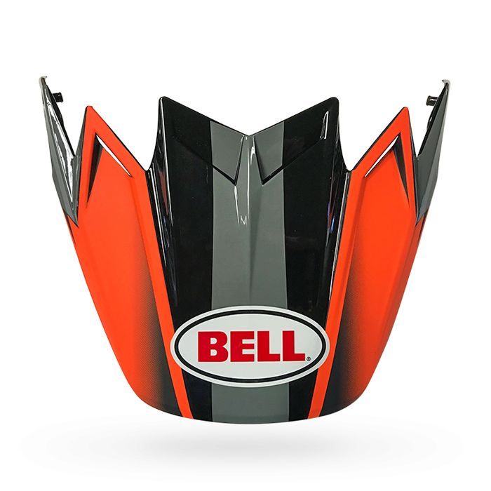 Bell Helmklep Moto-9 Flex Hound Gloss - Mat Oranje / Charcoal