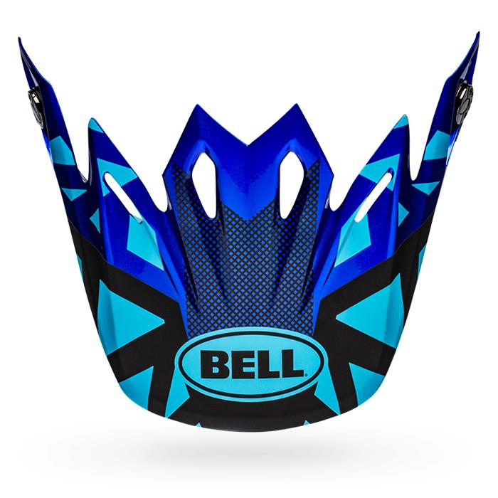 Bell Helmklep Moto-9 Mips Tremor - Blauw / Zwart