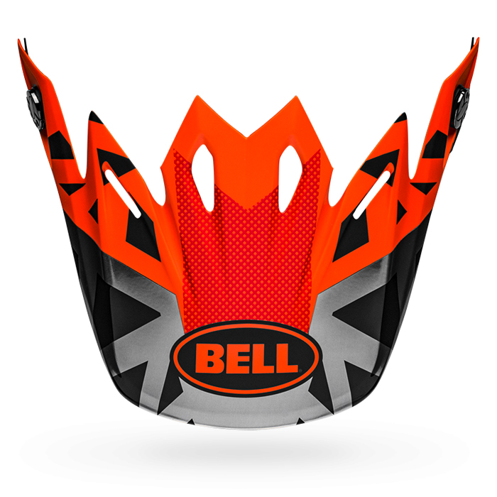 Bell Helmklep Moto-9 Mips Tremor - Zwart / Oranje / Chrome