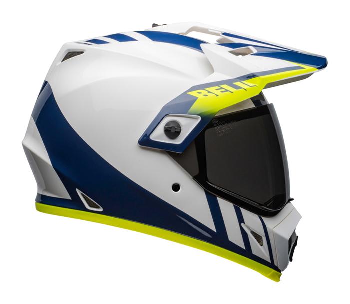Bell Helm MX-9 Adventure Dash - Wit / Blauw / Hi-Viz