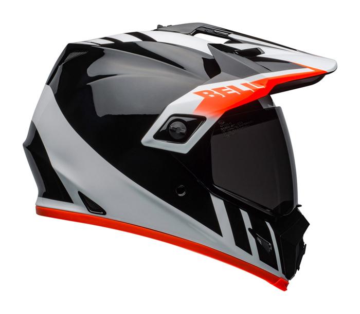 Bell Helm MX-9 Adventure Dash - Zwart / Wit / Oranje