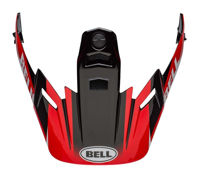 Bell Helmklep MX-9 Adventure Dash - Zwart / Rood / Wit