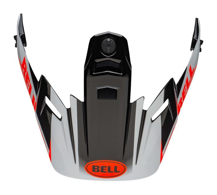 Bell Helmklep MX-9 Adventure Dash - Zwart / Wit / Oranje