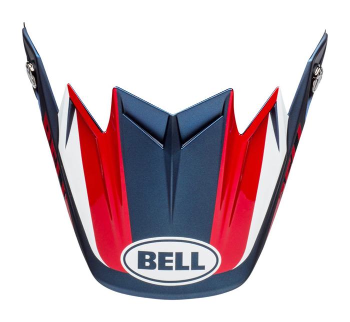 Bell Helmklep Moto-9 Flex Division - Wit / Blauw / Rood