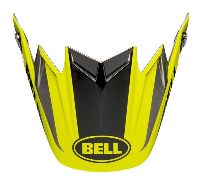 Bell Helmklep Moto-9 Flex Division - Zwart / Hi-Viz / Grijs
