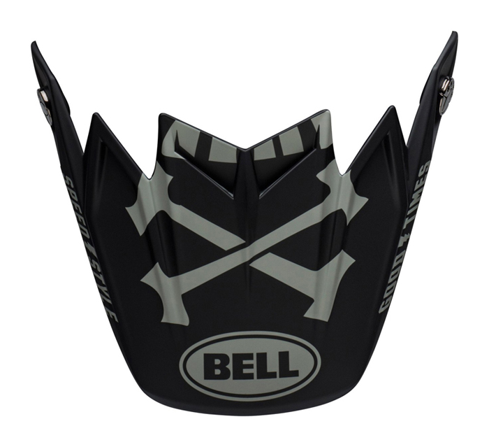 Bell Helmklep Moto-9 Flex Fasthouse - Zwart / Wit / Grijs