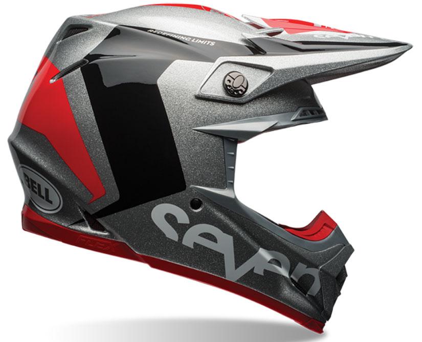 Seven Crosshelm 2017 Moto-9 Flex - Rogue Silver / Zwart