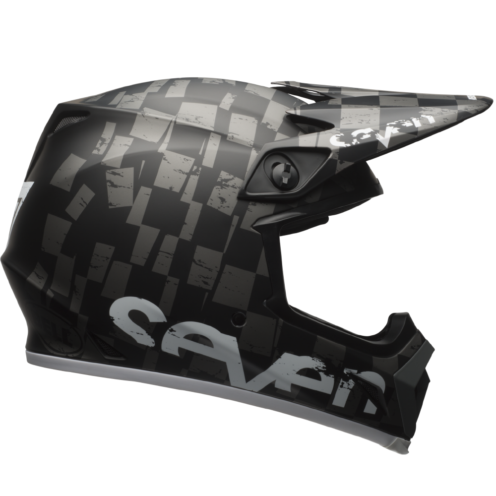 Seven Crosshelm 2017 MX-9 Mips - Checkmate Zwart