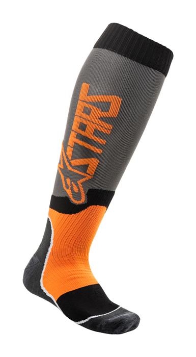 Alpinestars Cross Sokken MX PLUS-2 - Grijs / Fluo Oranje
