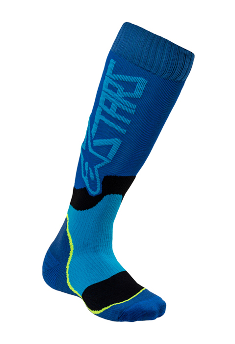 Alpinestars Kinder Cross Sokken MX PLUS-2 - Blauw / Cyan
