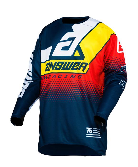 Answer Cross Shirt 2020 Elite Korza - Midnight / Wit / Pro Geel / Rood