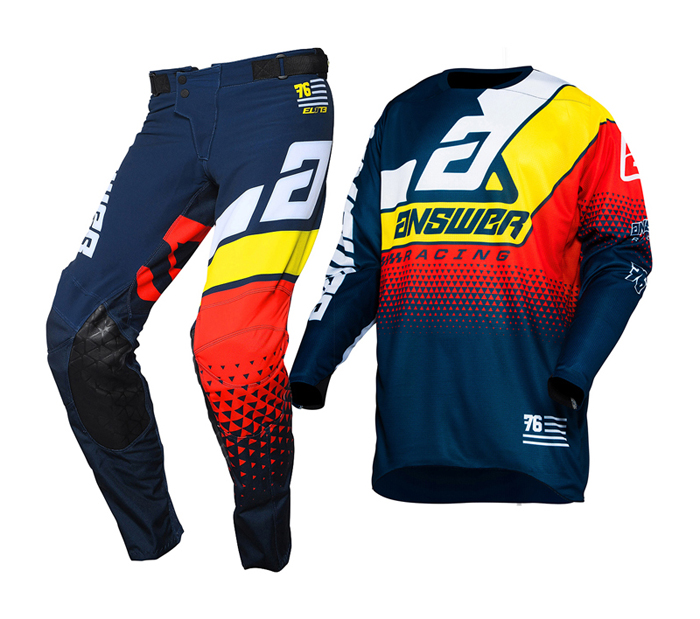 Answer Crosskleding 2020 Elite Korza - Midnight / Wit / Pro Geel / Rood