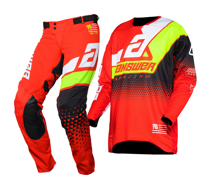 Answer Crosskleding 2020 Elite Korza - Rood / Wit / Hyper Acid / Zwart