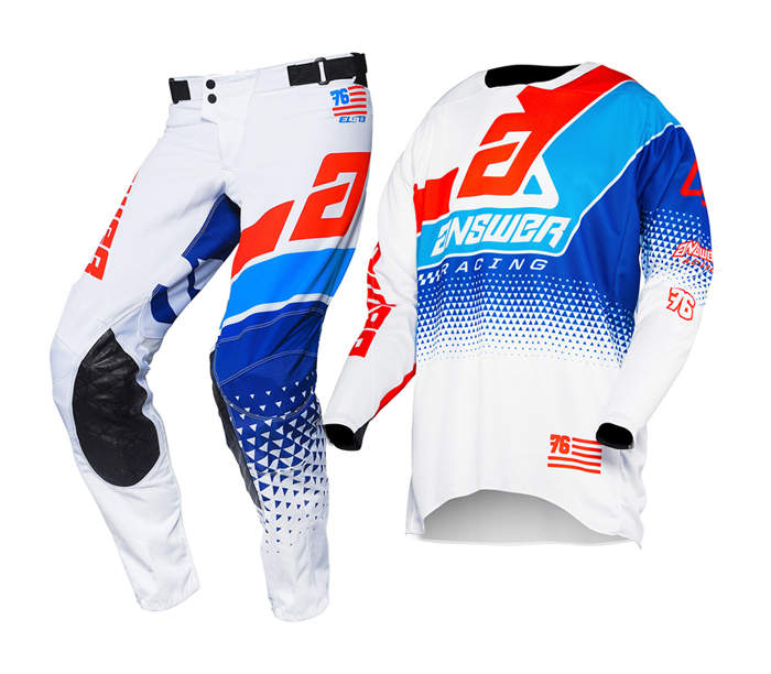 Answer Crosskleding 2020 Elite Korza - Wit / Rood / Hyper Blauw / Reflex