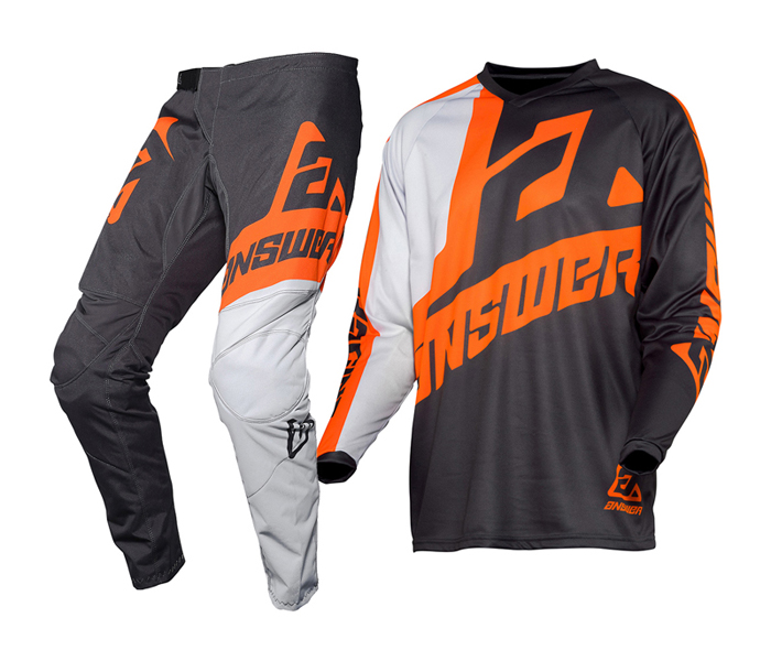 Answer Crosskleding 2020 Syncron Voyd - Charcoal / Grijs / Oranje