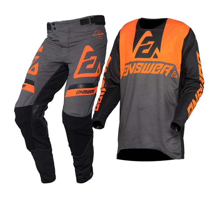 Answer Crosskleding 2020 Trinity Voyd - Charcoal / Hyper Oranje / Zwart